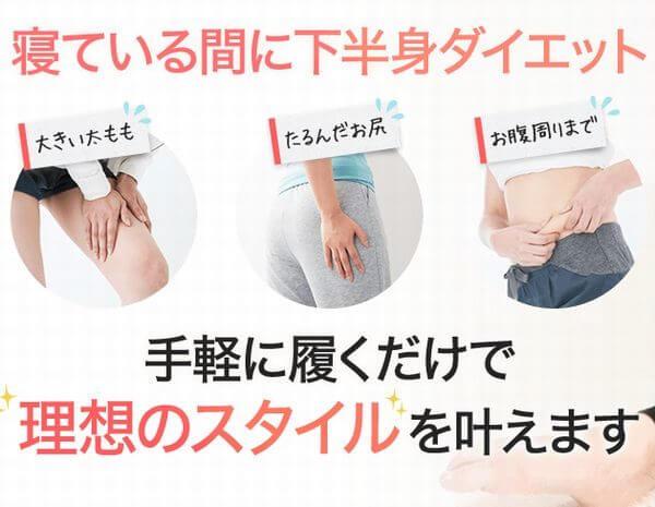 履くだけイージースリム履くだけイージースリムレッグの特徴とは?効果について